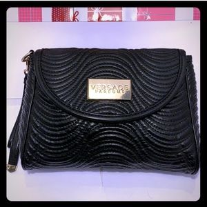 GentlyUsed VERSACE Parfums Toiletry Black Bag